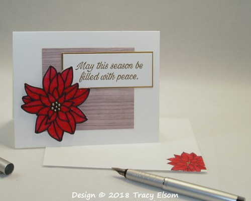 1625 Stained Glass Poinsettia Card