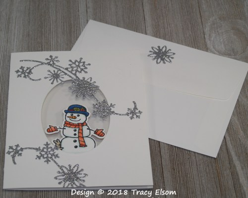 1645 Snowfall and Snowmen Card