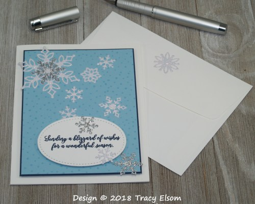 1646 Sparkling Snowflakes Card