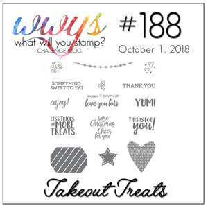 What Will You Stamp? design challenge WWYS188-Takeout Treats (October 1-6, 2018)