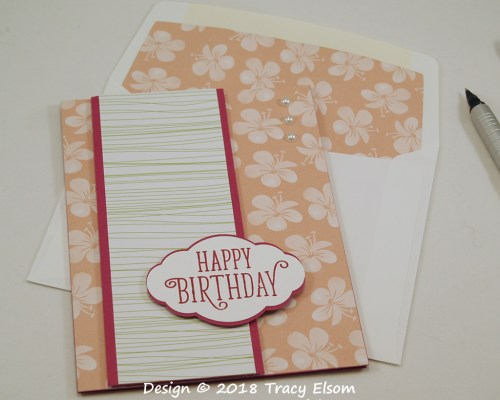 1619 Tropical Flower Birthday Card