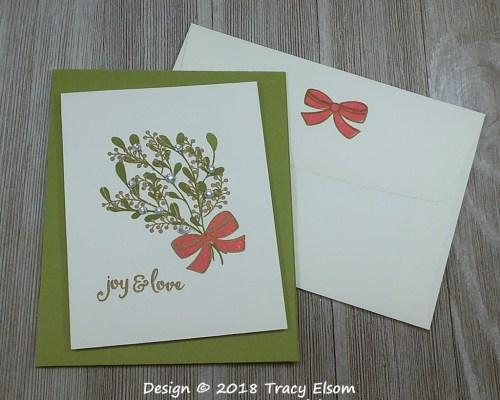1656 Sparkling Mistletoe Card