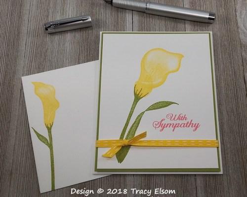 1659 Arum Lily Sympathy Card