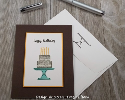 1660 Chocolate Cake Birthday Card