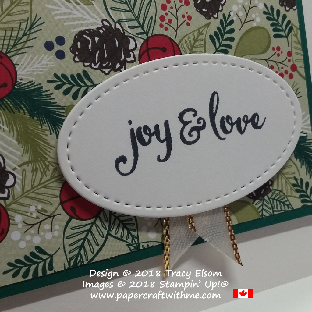 Close up of joy and love sentiment from the Mistletoe Season Stamp Set from Stampin' Up!
