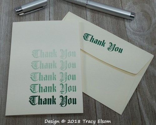 1665 Thank You Card ( #simplestamping )