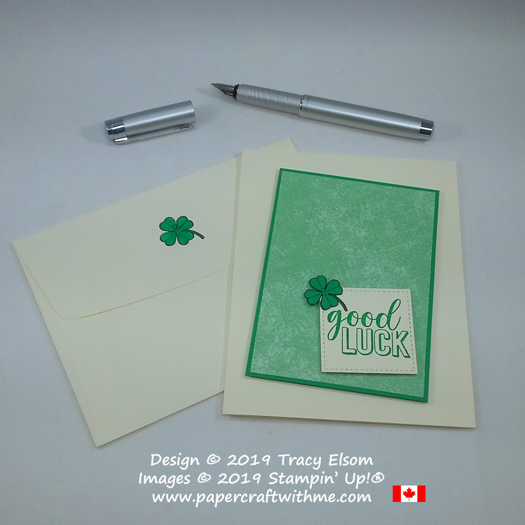 Good luck card created using the Amazing Life Stamp Set from Stampin' Up!