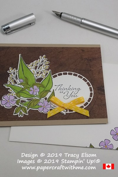 Thinking of You card created using Stampin' Blends with the Wonderful Romance Stamp Set and coordinating Wonderful Floral Framelits Dies from Stampin' Up!
