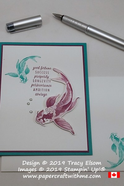 Simple card created using the fishes image from the All The Good Things Stamp Set from Stampin' Up!
