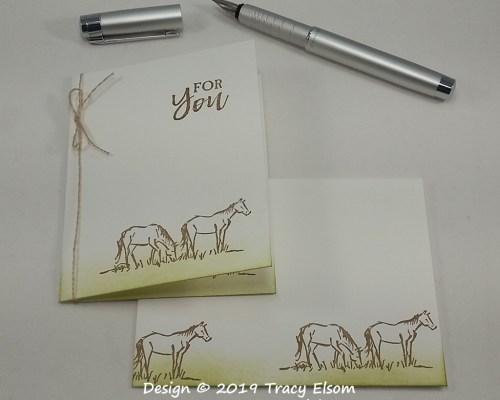 1721 Horse Notecard