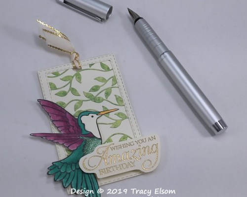 Hummingbird Birthday Gift Tag