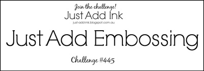 Just Add Ink design challenge logo JAI445 (February 22 to 27, 2019)