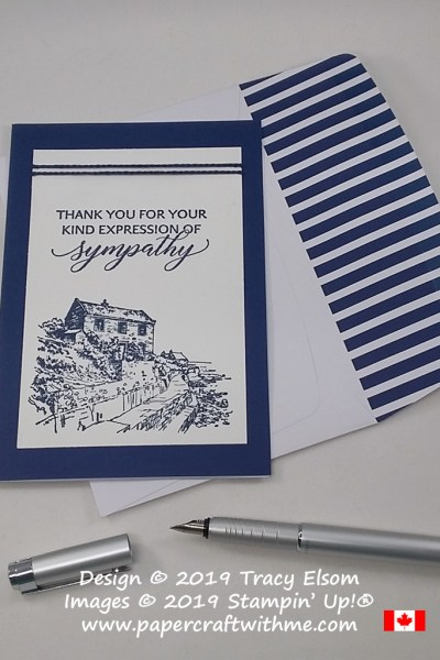 Sympathy thank you card created using the Kindness & Compassion and By The Bay Stamp Sets from Stampin' Up!