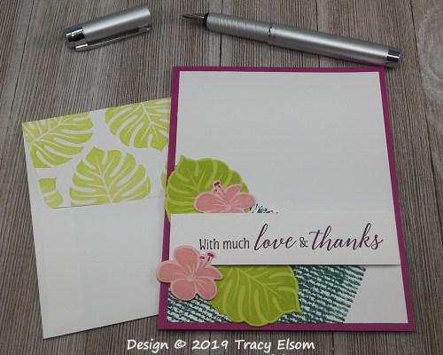 1735 Tropical Thanks Card