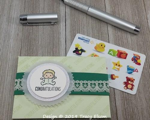 GC196 Baby Congratulations Giftcard Envelope