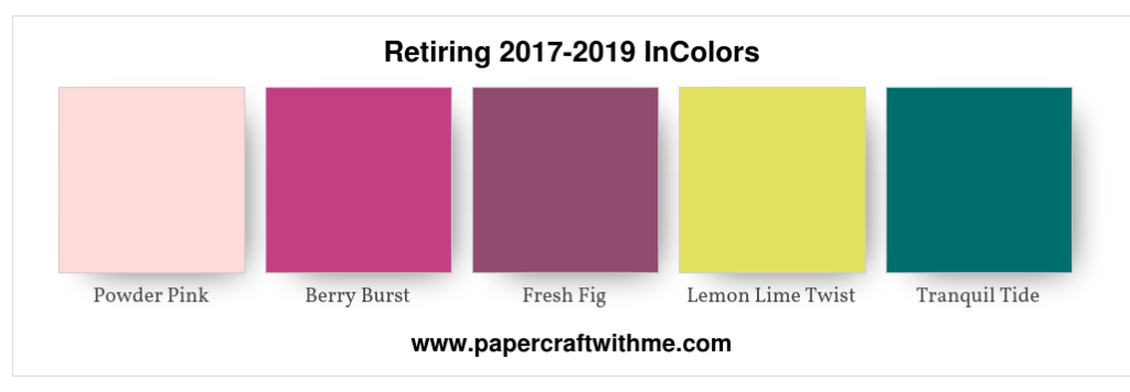 Retiring 2017-2019 InColors from Stampin' Up!
