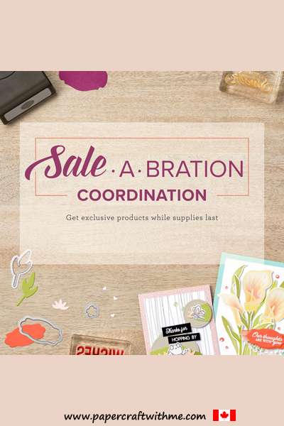 Limited edition products that coordinate with selected free Sale-A-Bration items are available to purchase while stocks last (promotion ends March 31st)