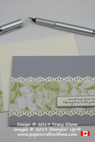 Thoughts and prayers card created using the Wishing You Well Stamp Set from Stampin' Up!
