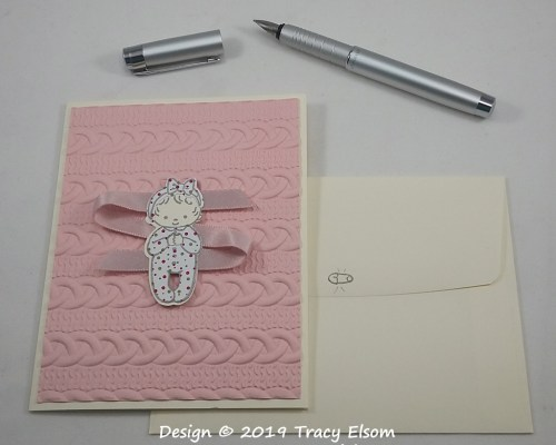 1759 Pink Ribbon Baby Card