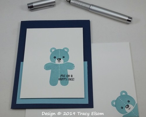 1763 Happy Face Teddy Card