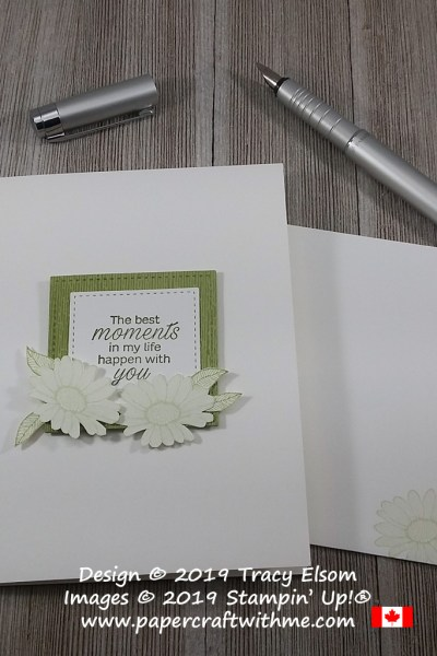 Best Moments card created using the Daisy Lane Stamp Set and Subtle Embossing Folder from Stampin' Up!