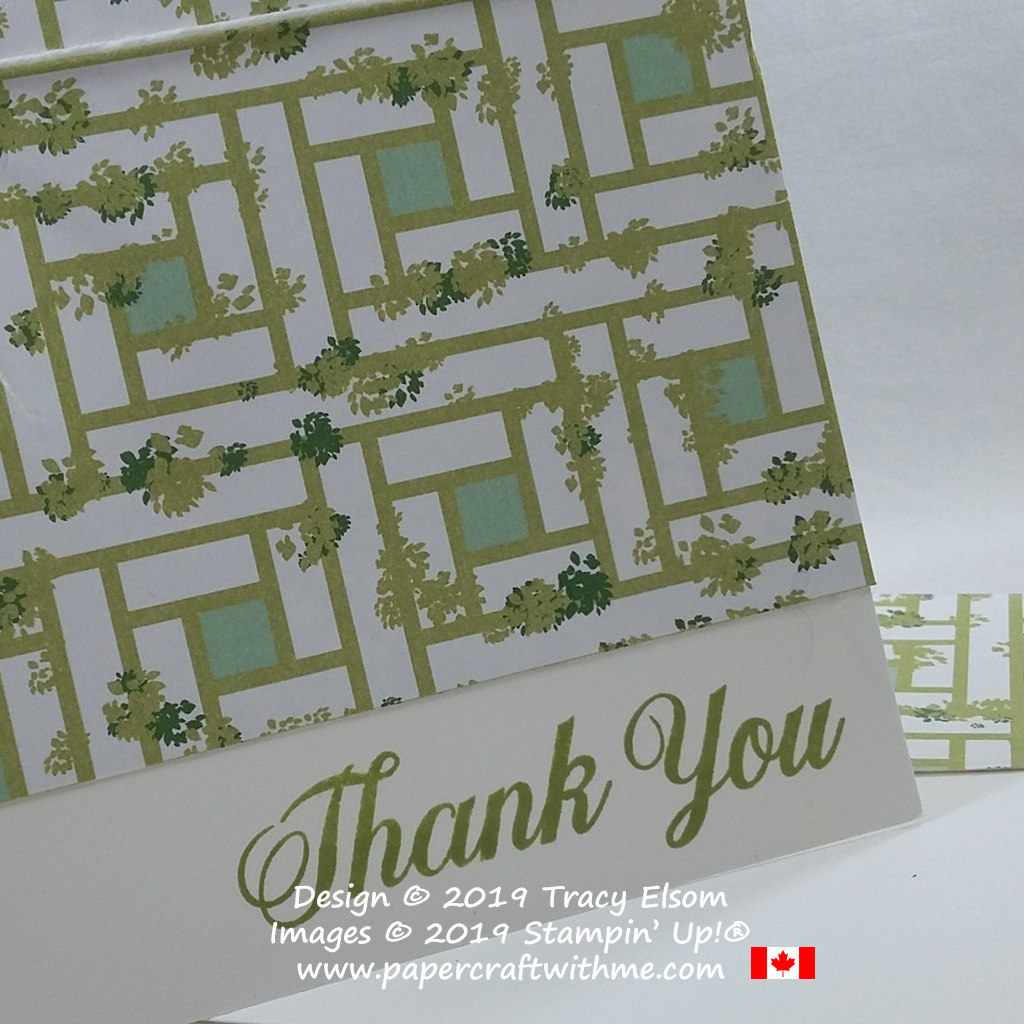 Close up of thank you card created using the Daisy Delight Stamp Set and Garden Lane Designer Series Paper from Stampin' Up!