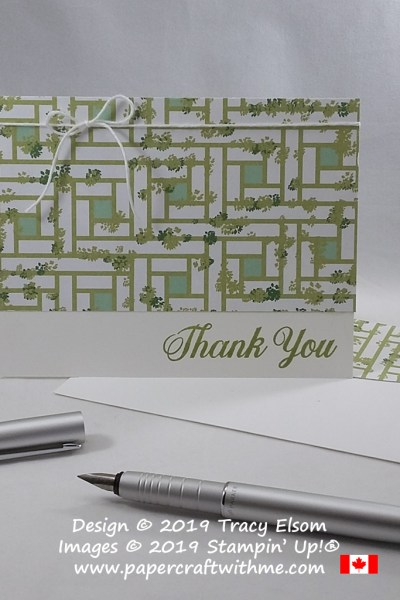 Thank you card created using the Daisy Delight Stamp Set and Garden Lane Designer Series Paper from Stampin' Up! #simplestamping