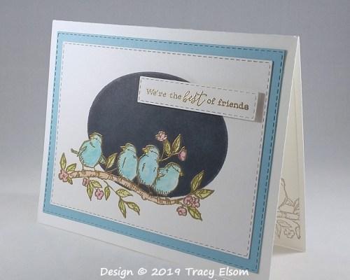 1772 Bluebird Friends Card