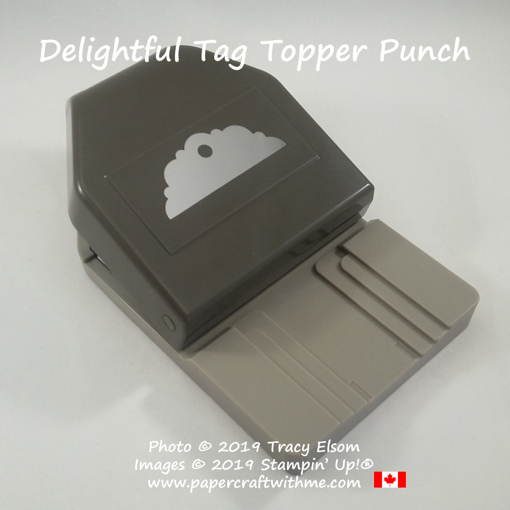 """The Delightful Tag Topper Punch from Stampin' Up! punches strips 1"""", 1-1/2"""" and 2"""" wide."""