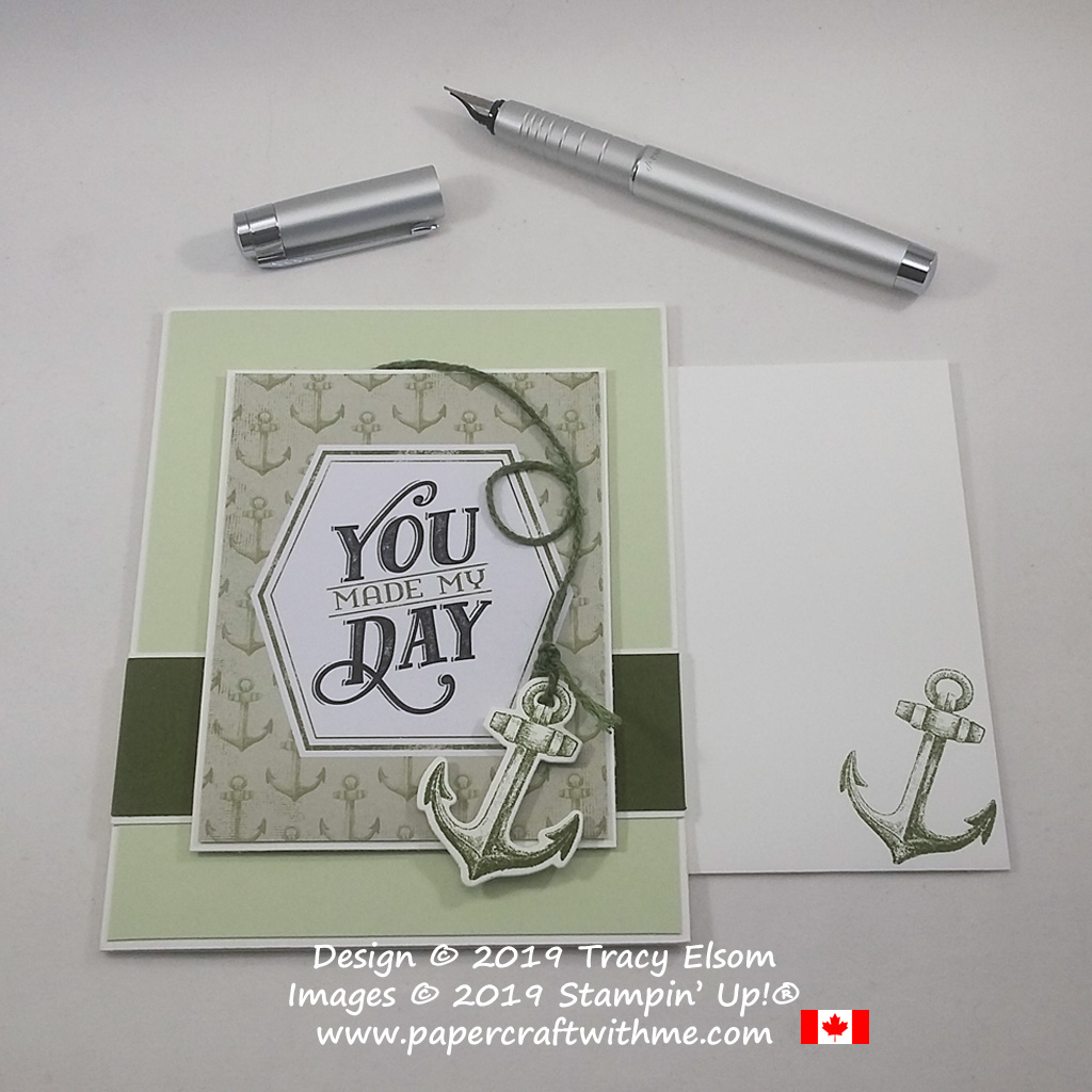 """You Made My Day"" card created using products from the the nautical themed Come Sail Away suite from Stampin' Up!"