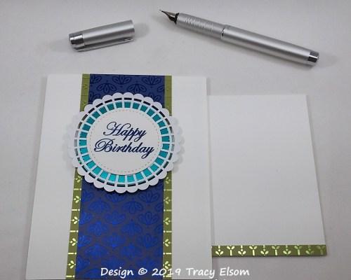 1793 Peacock Coloured Birthday Card