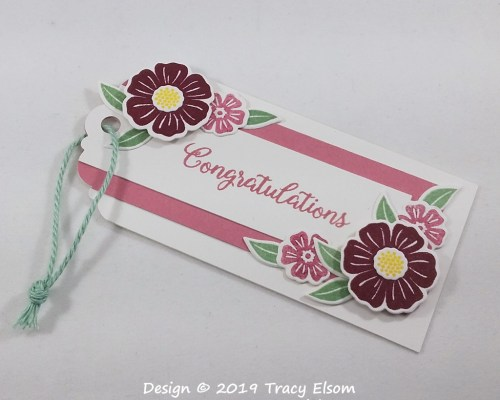 Triple Layer Floral Tag