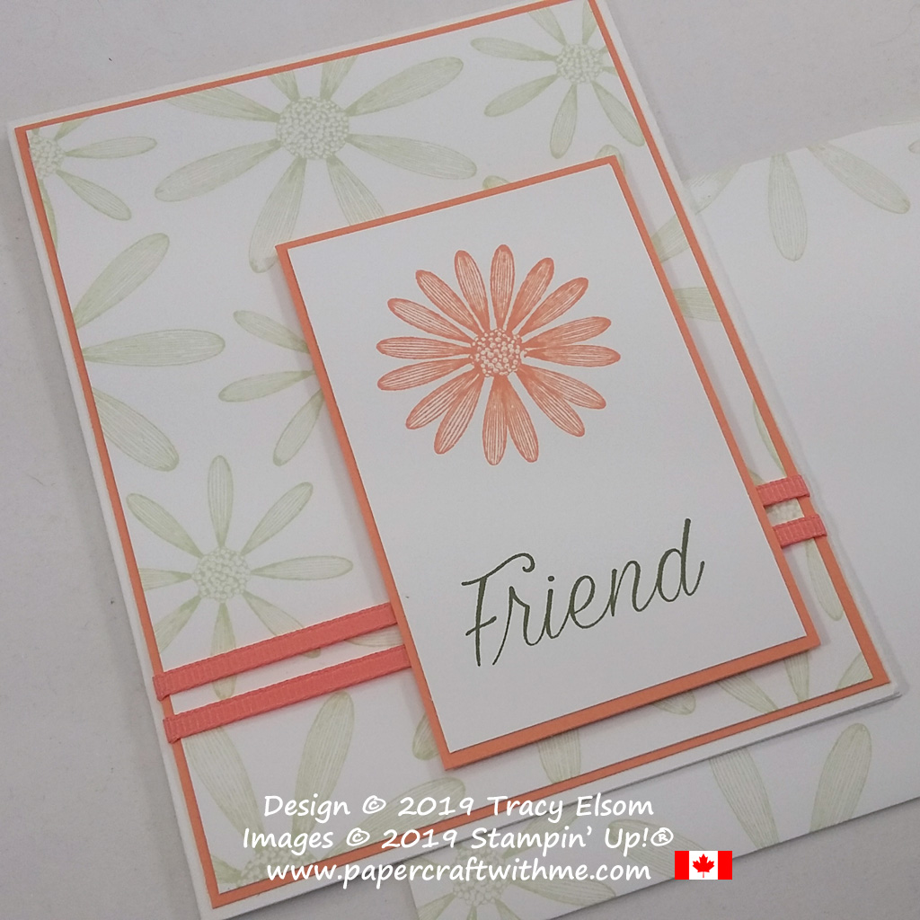 Close up of simple stamped friend card using the Daisy Lane Stamp Set from Stampin' Up!