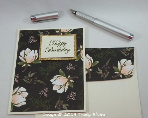 1807 Magnolia Blooms Birthday Card