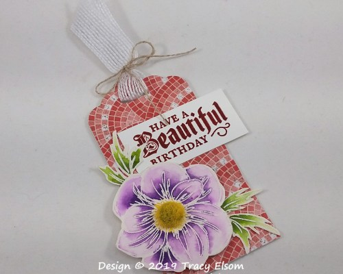 Floral Birthday Tag