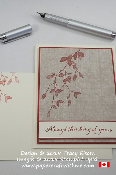 "Simple ""Always thinking of you"" card created using the Very Versailles Stamp Set from Stampin' Up! #simplestamping"