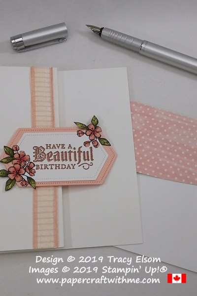 "Elegant card with copper embossed ""Have a beautiful birthday"" sentiment from the Painted Glass Stamp Set from Stampin' Up! #papercraftwithme"