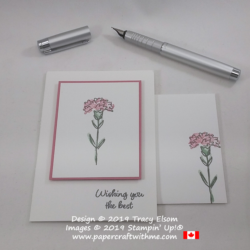 "#simplestamping card with ""Wishing you the best"" sentiment and carnation image from the Inspiring Iris Stamp Set by Stampin' Up!"