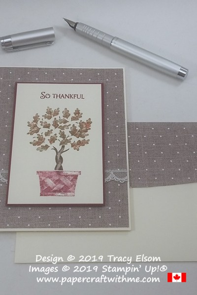 """So thankful"" card in fall / autumn colours created using the Beauty & Joy Stamp Set from Stampin' Up! #papercraftwithme"