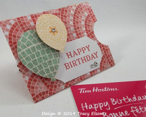 GC209 Mosaic Birthday Gift Card Holder