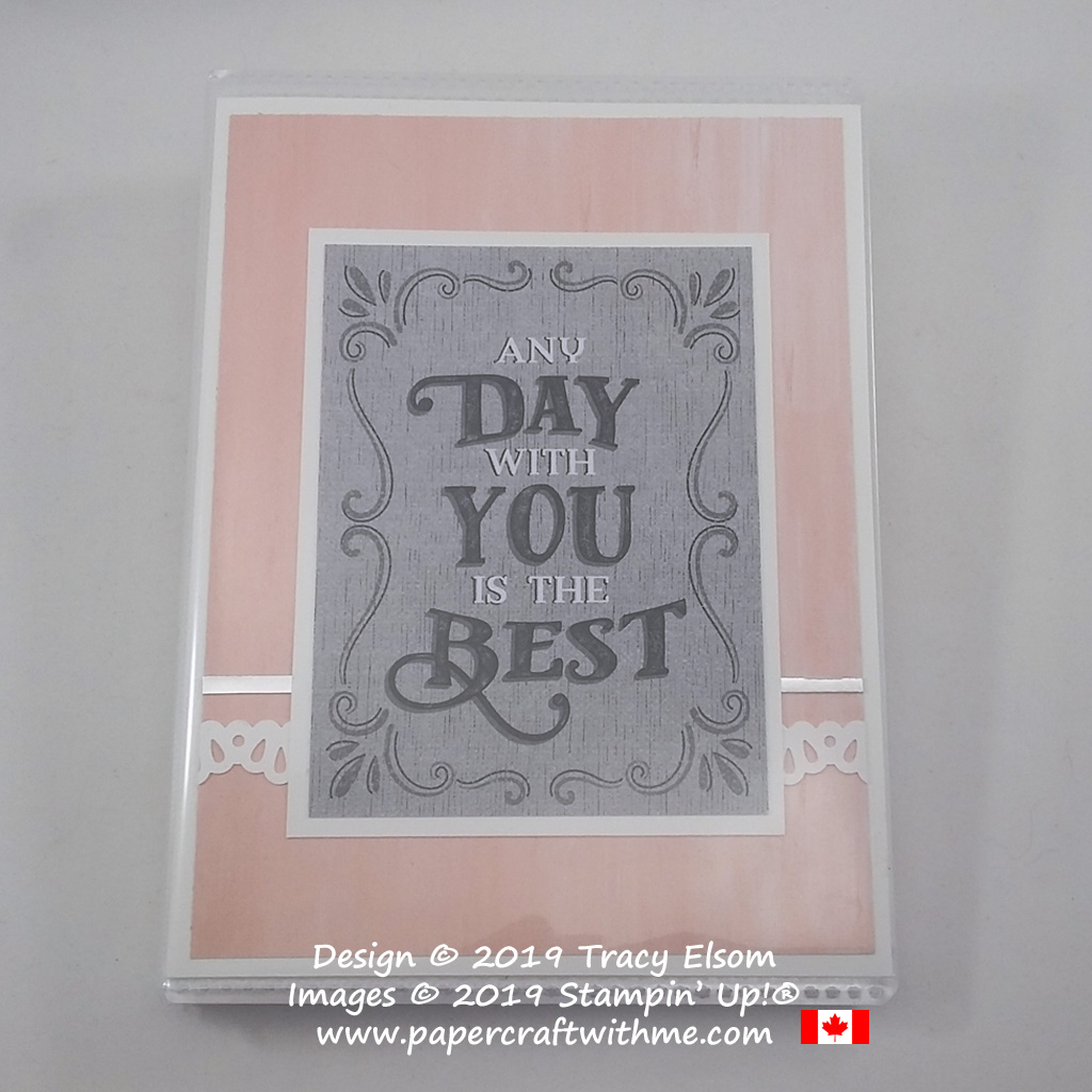 "Simple 4"" x 6"" pocket photo album decorated in pink and grey using Come Sail Away Memories & More Card Pack and other products from Stampin' Up!"