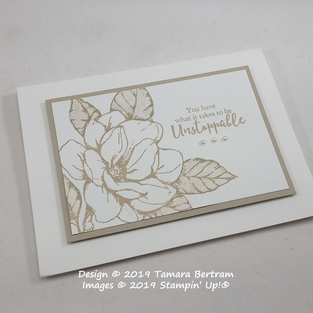 Card designed by Tamara Bertram using the Good Morning Magnolia stamp Set from Stampin' Up!