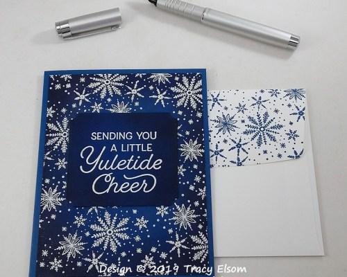 1841 Yuletide Snowflakes Card