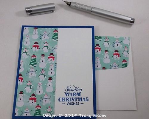 1844 Warm Snowmen Card