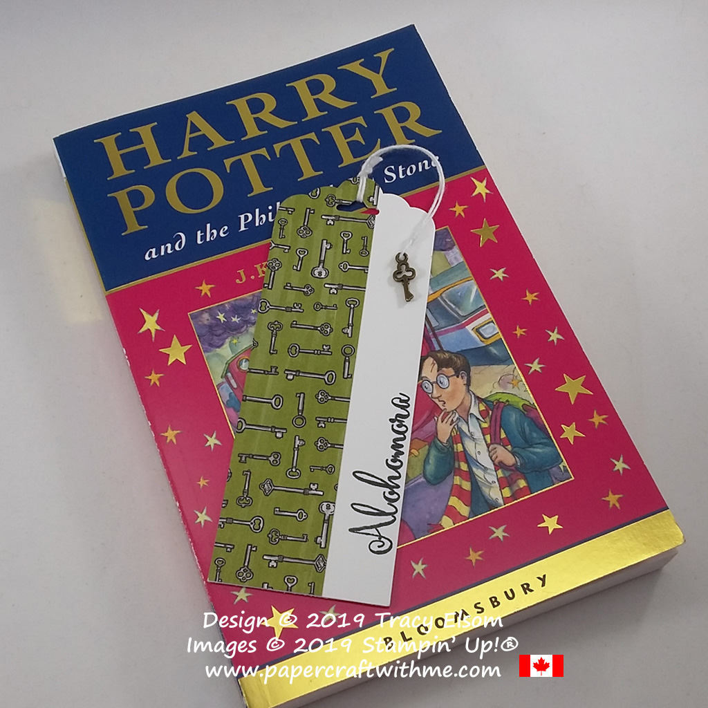 Alohomora bookmark for the Harry Potter fan complete with key trinket. Created using supplies from Stampin' Up! #papercraftwithme