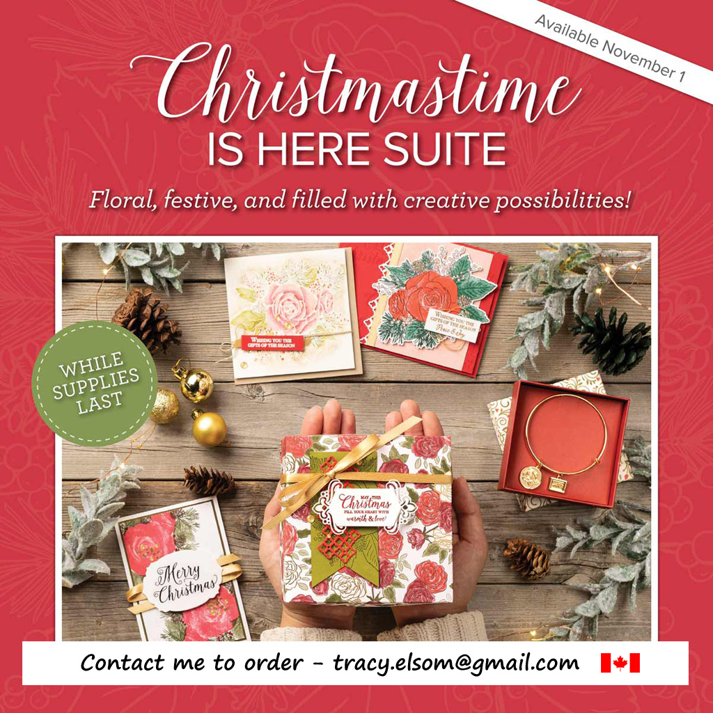 The limited edition Christmastime Is Here suite of products from Stampin' Up! will be available to order starting November 1st, 2019. #papercraftwithme