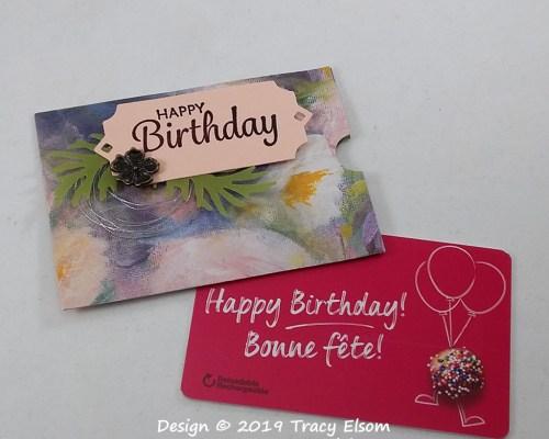 GC210 Perennial Birthday Gift Card Holder