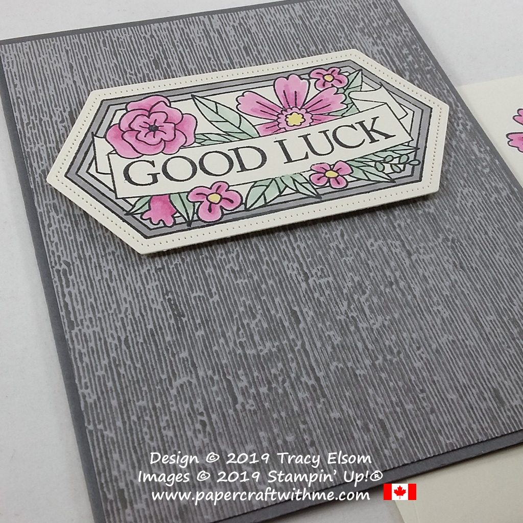 Good luck card created using the Believe You Can Stamp Set and Subtle inked embossing folder. All products from Stampin' Up! #papercraftwithme