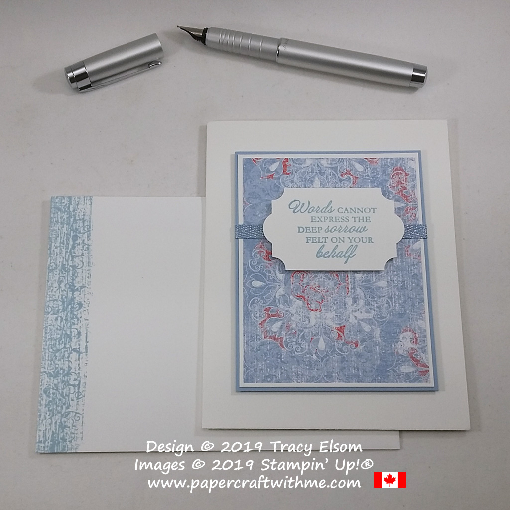 """Sympathy card with """"Words cannot express the deep sorrow felt on your behalf"""" sentiment from the Here's A Card Stamp Set from Stampin' Up! #papercraftwithme"""