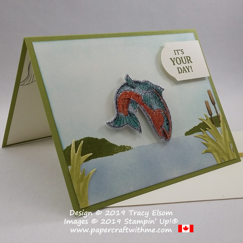 """Taking inspiration from the bay I created this """"It's your day"""" card using the Best Catch Stamp Set and coordinating Catch Of The Day Dies from Stampin' Up! #papercraftwithme"""